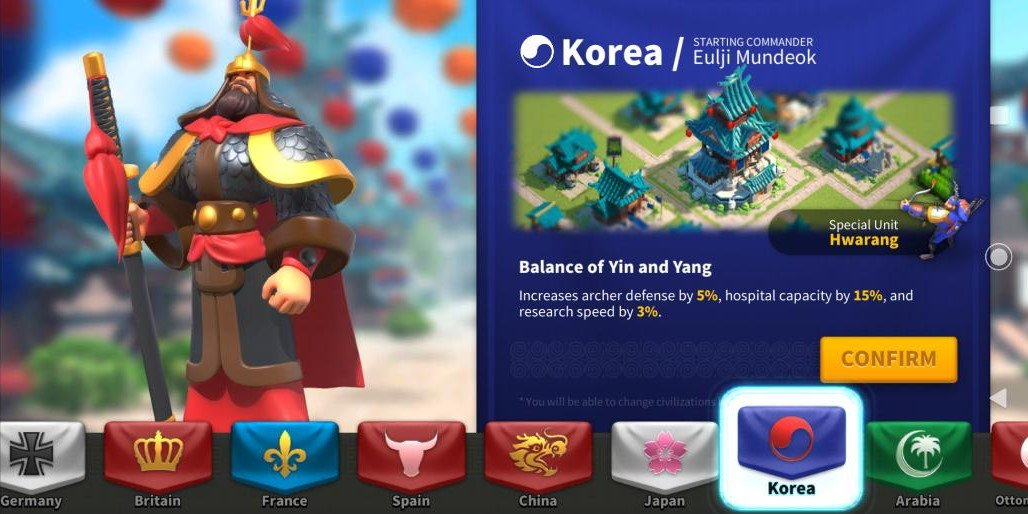 Best Korea Civilization Rise of Kingdoms