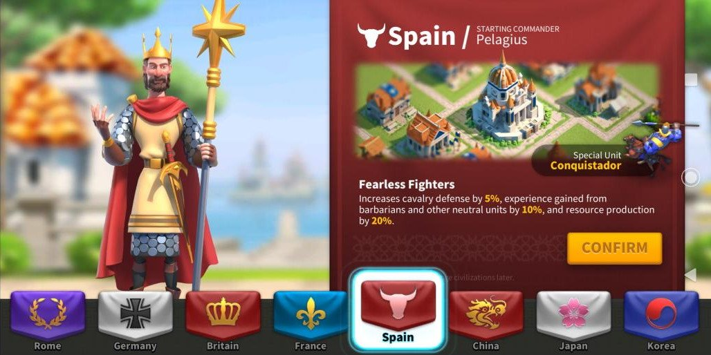 Best Spain Civilization Rise of Kingdoms