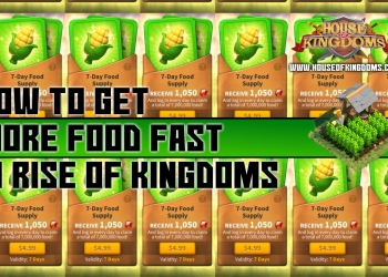 How to Get More Food Fast Rise of Kingdoms