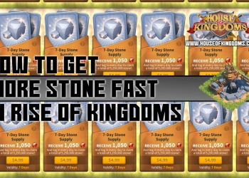 How to Get More Stone Fast Rise of Kingdoms