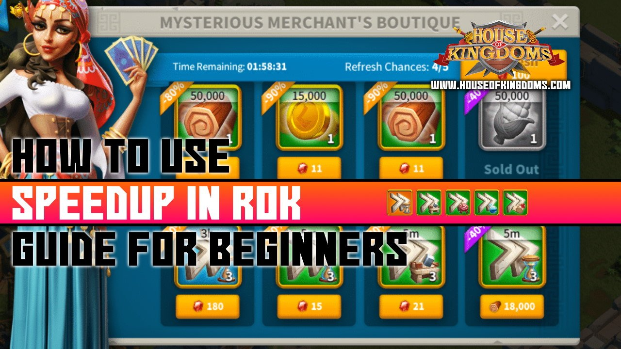 How to Use Speedups in Rise of Kingdoms