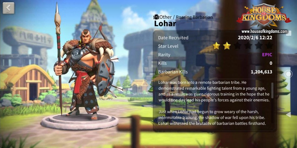 Lohar Commander Rise of Kingdoms