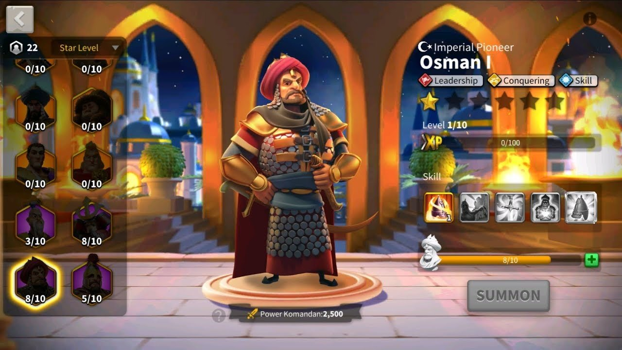 Osman I Commander Screen