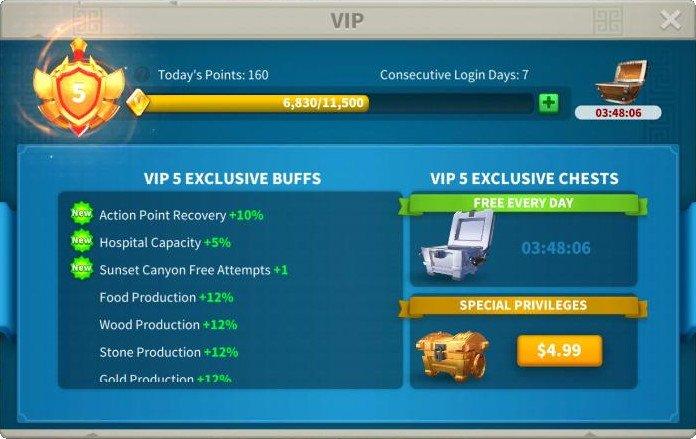 Rise of Kingdoms Daily VIP Login