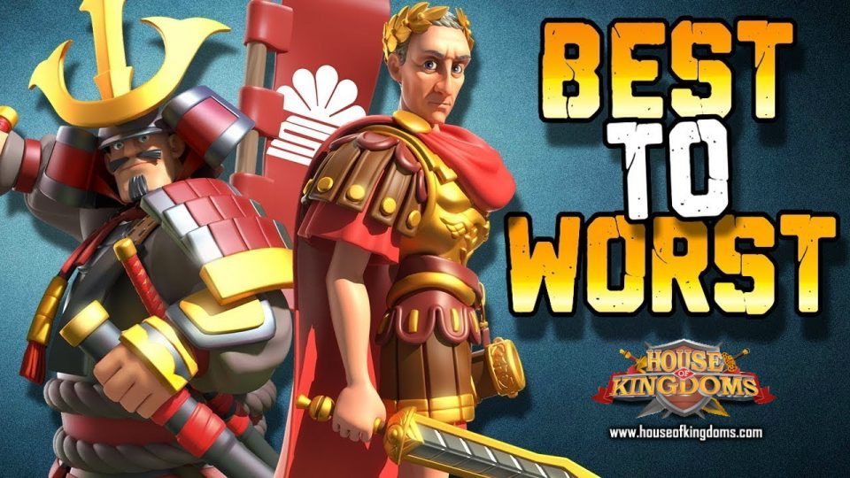 Best Commander Tier List Rise of Kingdoms ROK