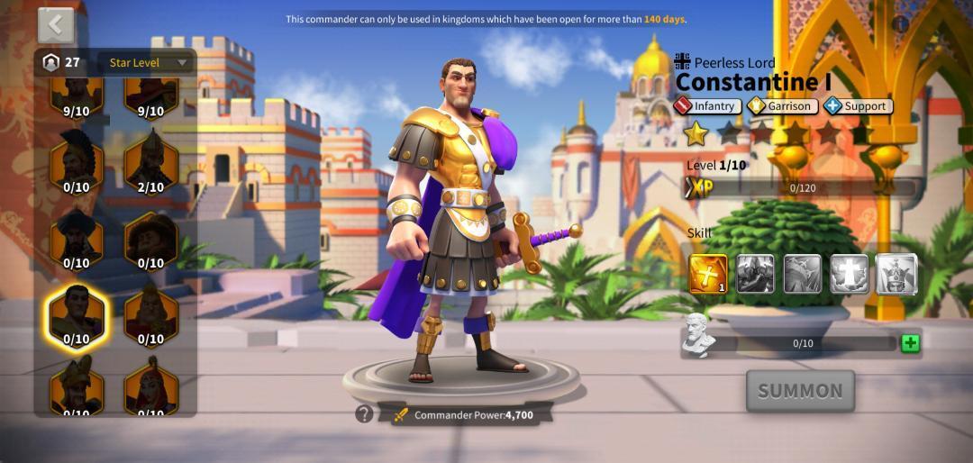 Constantine I ROK Guide