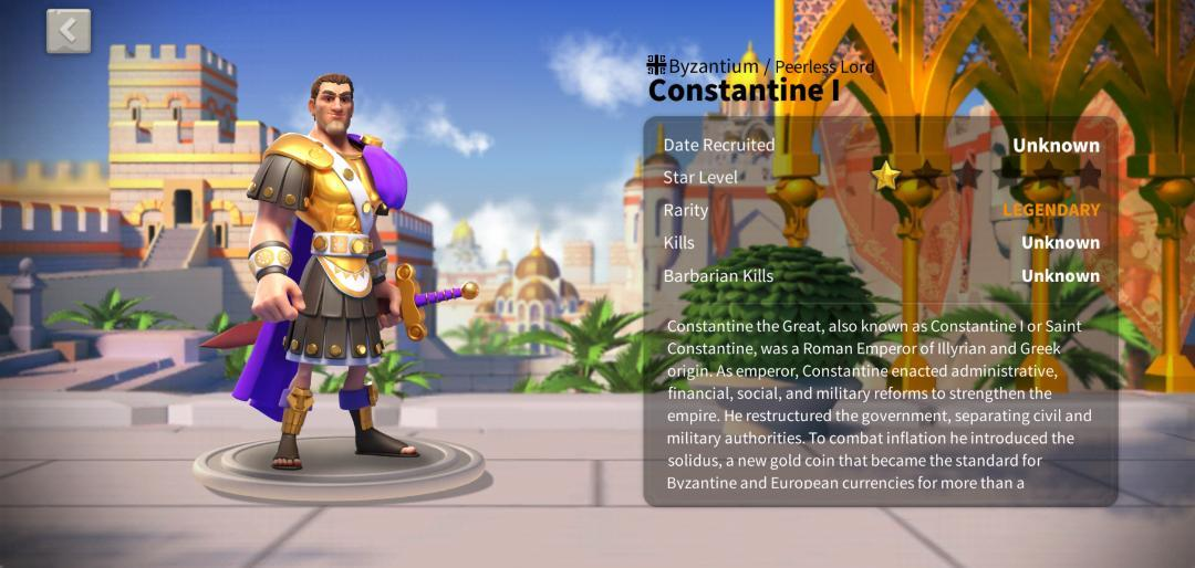 Constantine I Rise of Kingdoms Guide