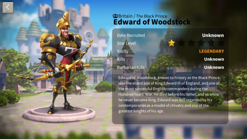 Edward of Woodstock Commander