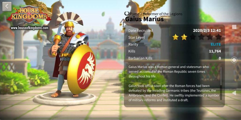 Gaius Marius Commander ROK