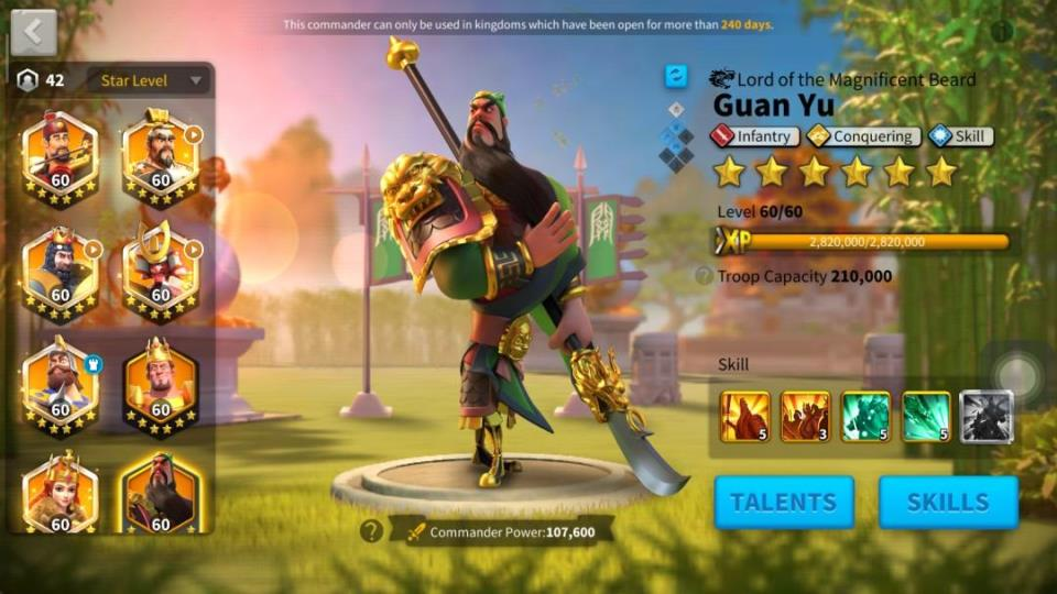 Guan Yu Rise of Kingdoms Guide