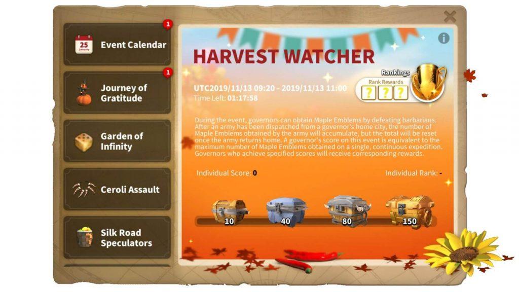 Harvest Watcher