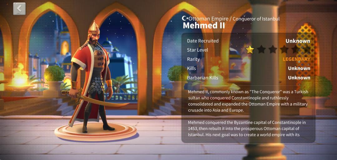 Mehmed II ROK Guide