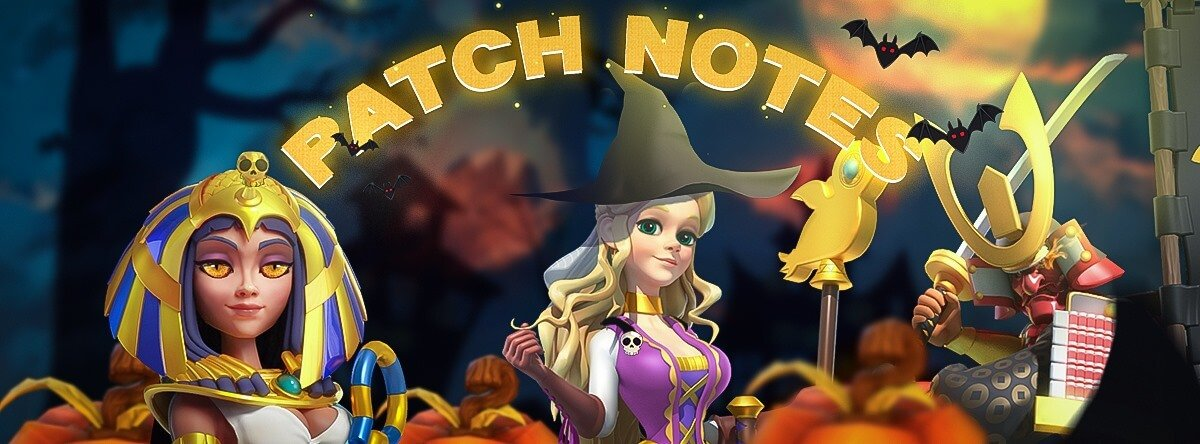 ROK Patch Notes 1.0.26 Spooky Halloween