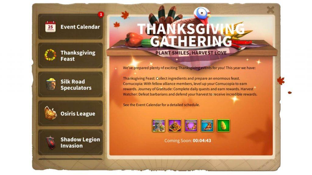 Thanksgiving Gathering ROK