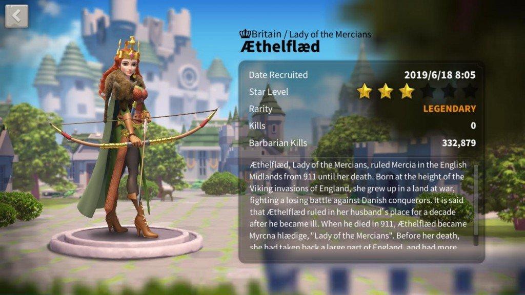 Aethelflaed Rise of Kingdoms Commander