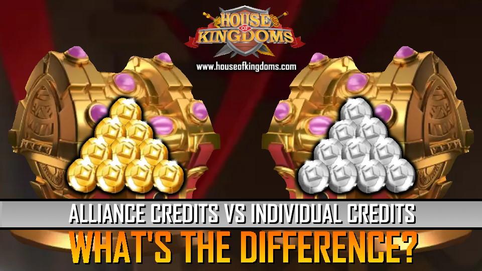 Alliance Credits vs Individual Credits ROK