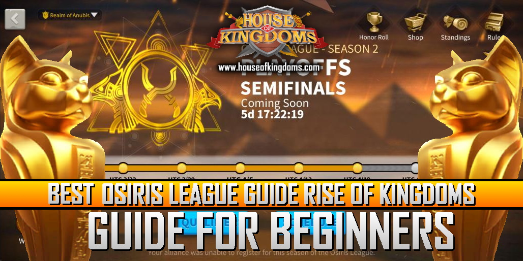 Best Osiris League Rise of Kingdoms Guide