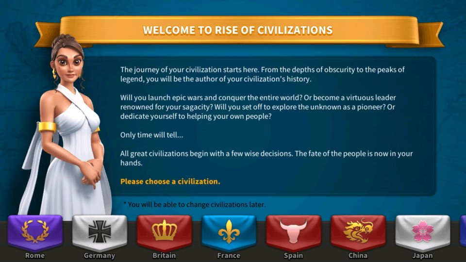 Civilization Change Rise of Kingdoms ROK