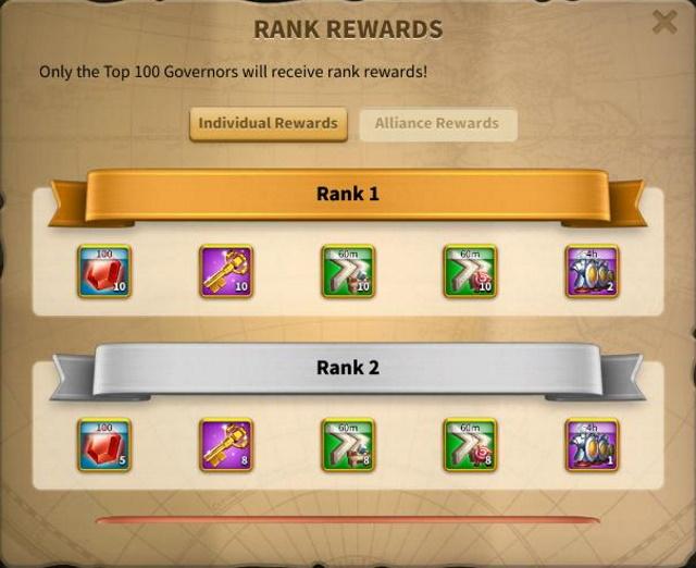 Clarion Call Individual Rewards