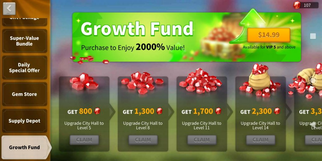 Growth Fund Rise of Kingdoms