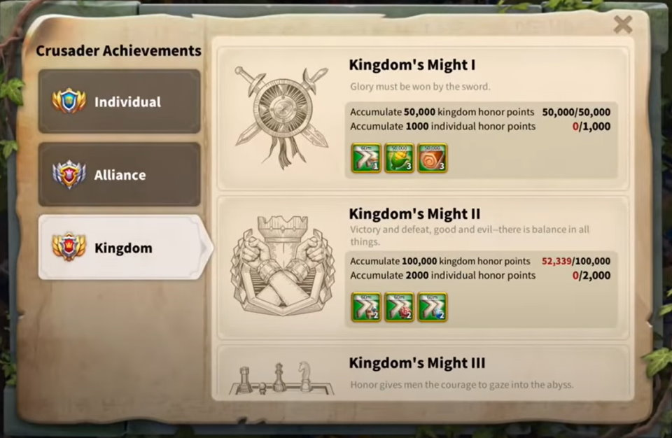 Lost Kingdom Crusader Achievements