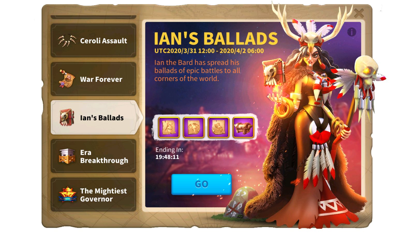 Rise of Kingdoms Ian's Ballads