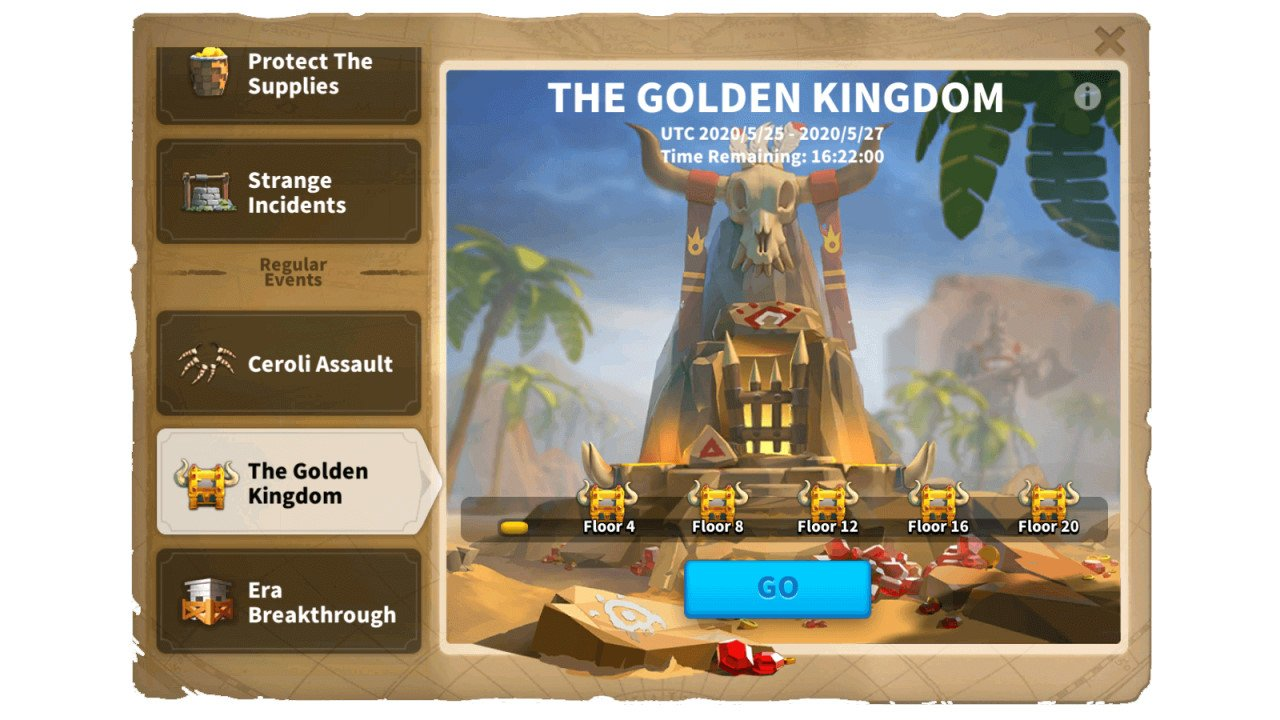 Golden Kingdom Event Rise of Kingdom