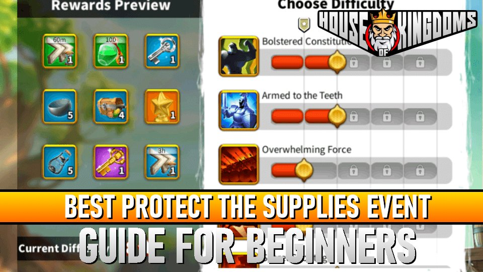 Best Protect The Supplies ROK Guide