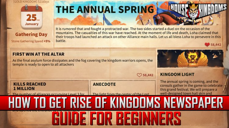 How to Get Rise of Kingdoms Newspaper