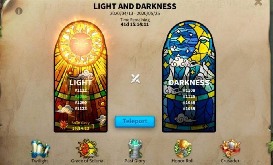 Light and Darkness Rise of Kingdoms Event