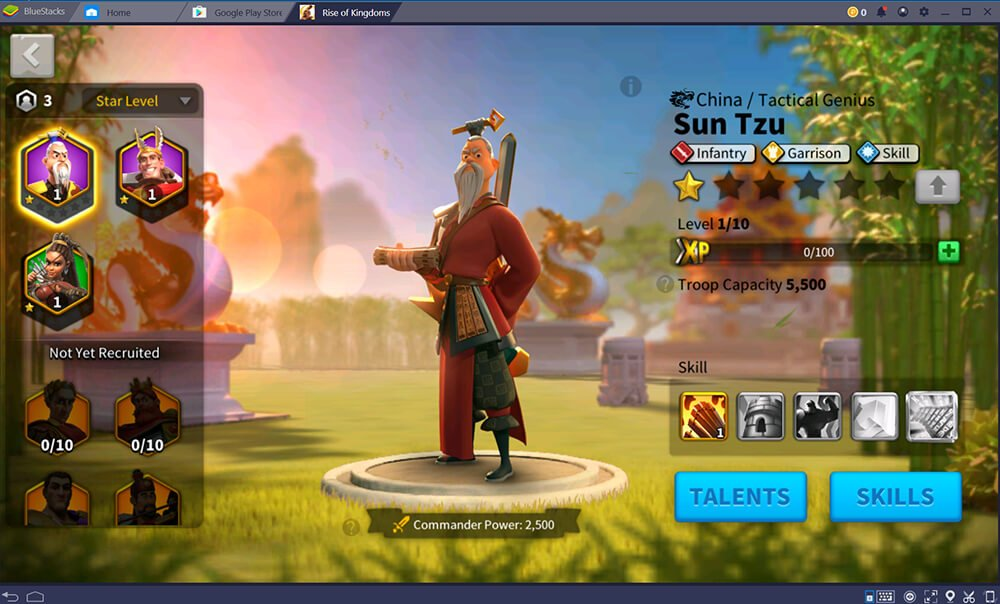 Rise of Kingdoms BlueStacks Commander
