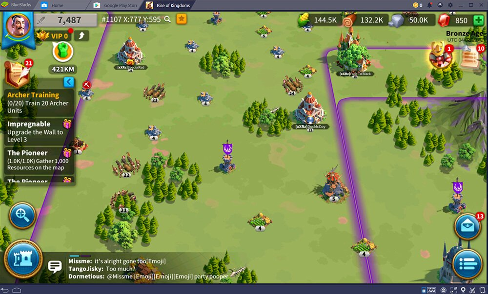 Rise of Kingdoms Map BlueStacks