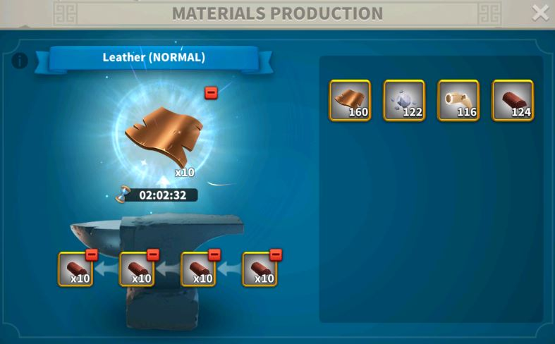 Rise of Kingdoms Materials Production