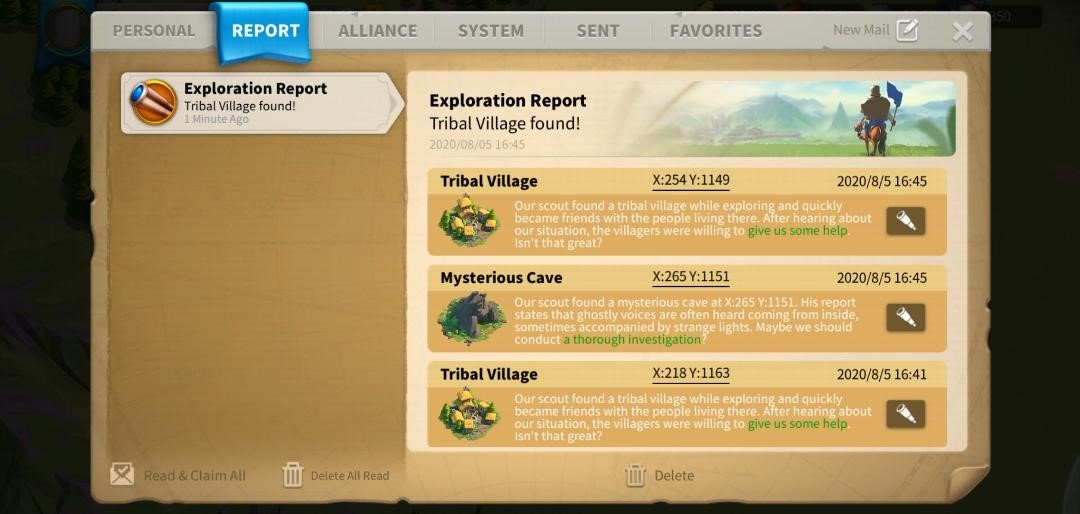 Rise of Kingdoms Mysterious Caves and Tribal Villages