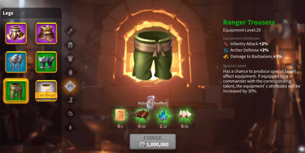 Rise of Kingdoms Special Talent