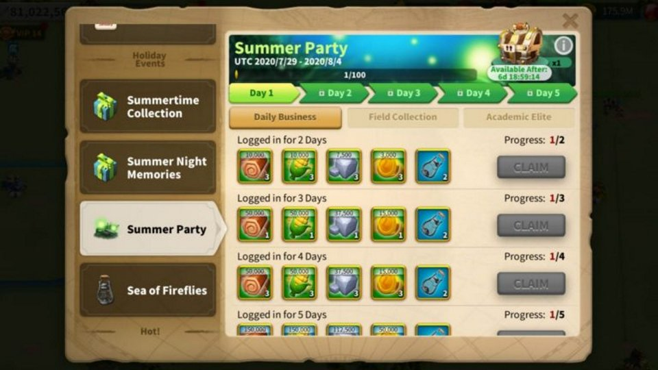 Summer Party Rise of Kingdoms