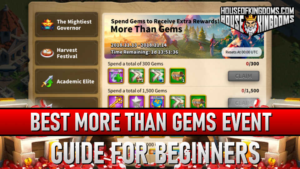 Best More Than Gems Event Rise of Kingdoms