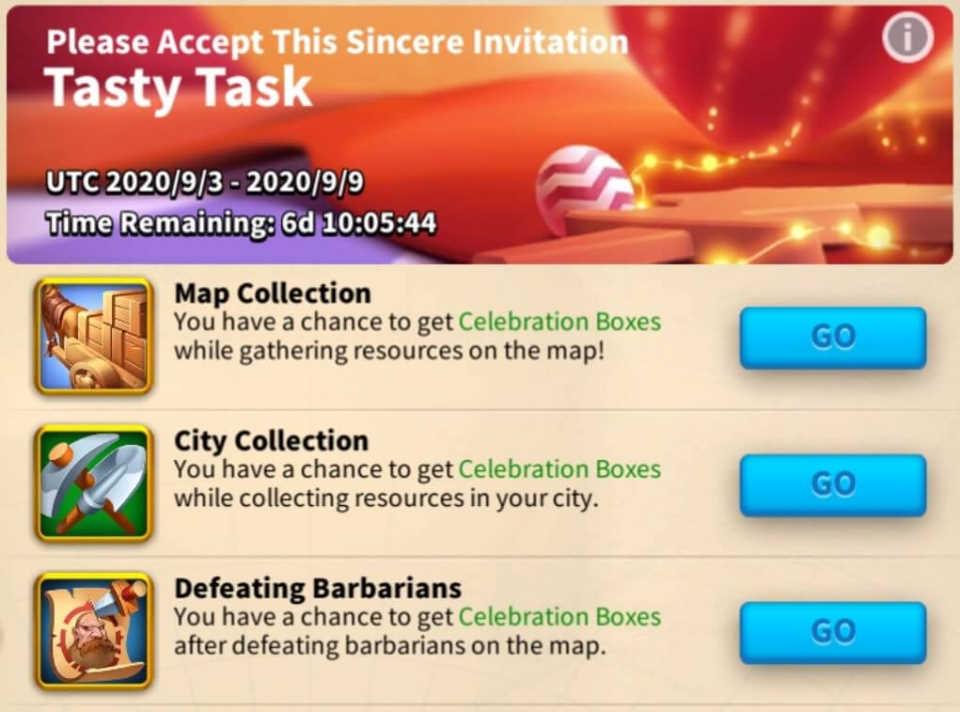 Celebration Anniversary Cake Rise of Kingdoms