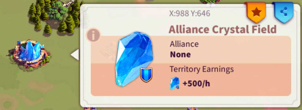 Rise of Kingdoms Alliance Crystal Field
