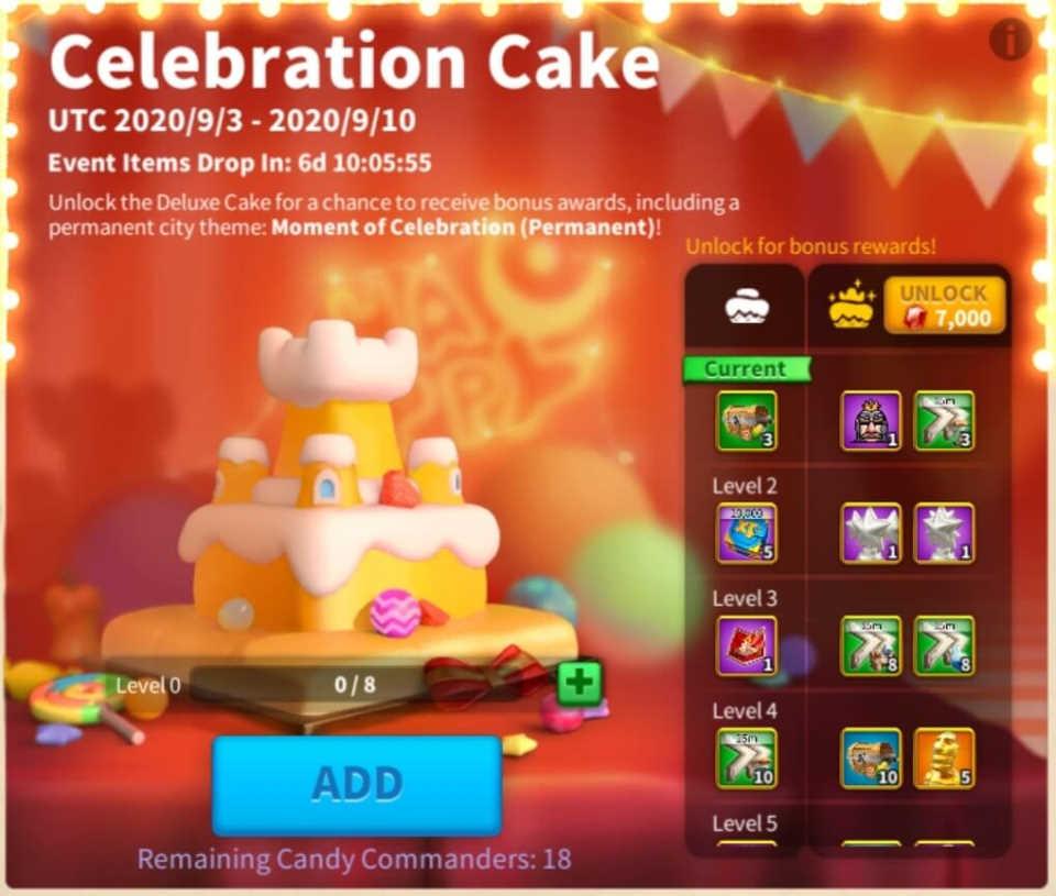 Rise of Kingdoms Anniversary Cake