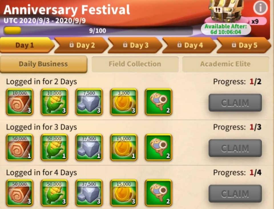 Rise of Kingdoms Anniversary Festival Event