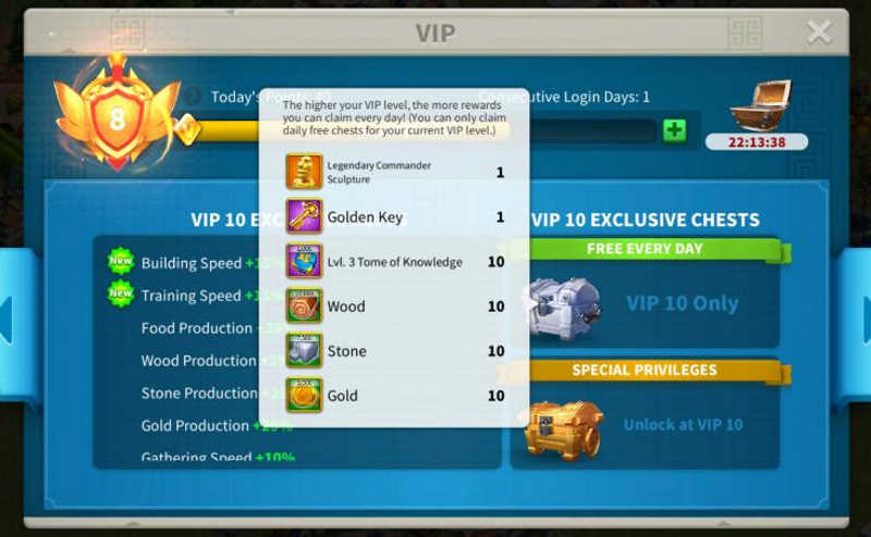 VIP Golden Key Free