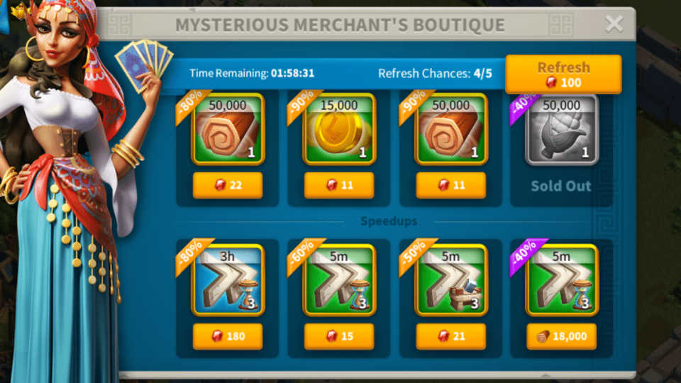 Mysterious Merchant Rise of Kingdoms