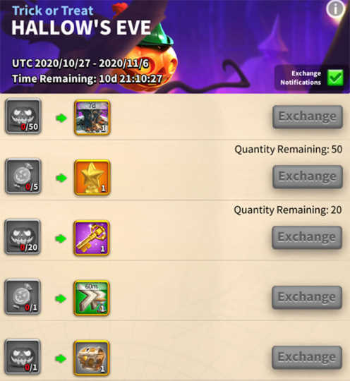 ROK Hallow's Eve Event