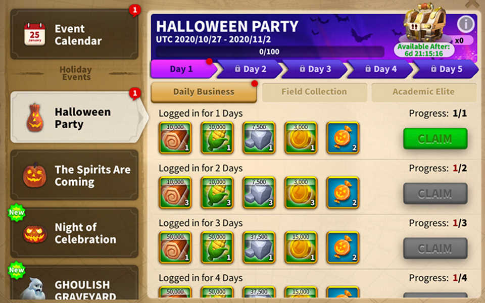 Rise of Kingdoms Halloween Party Event