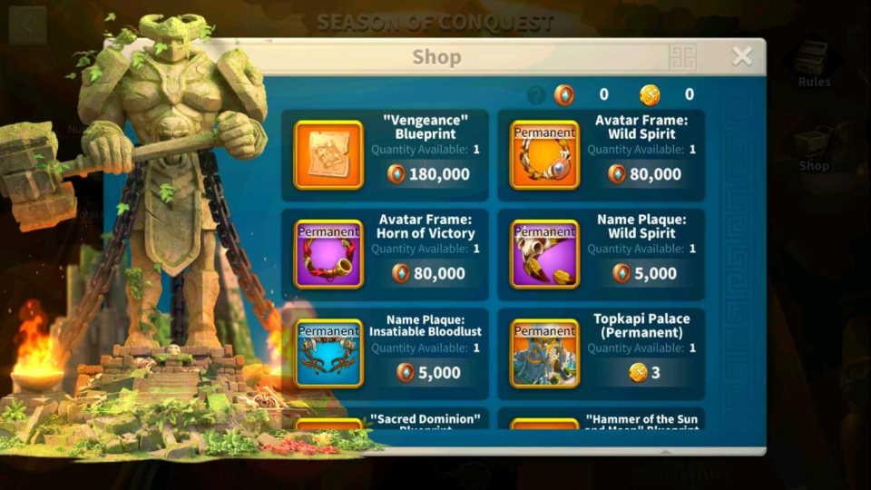 Rise of Kingdoms Heroic Anthem Shop 4