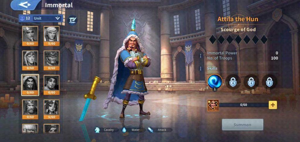 Attila the Hunt Immortal Infinity Kingdom
