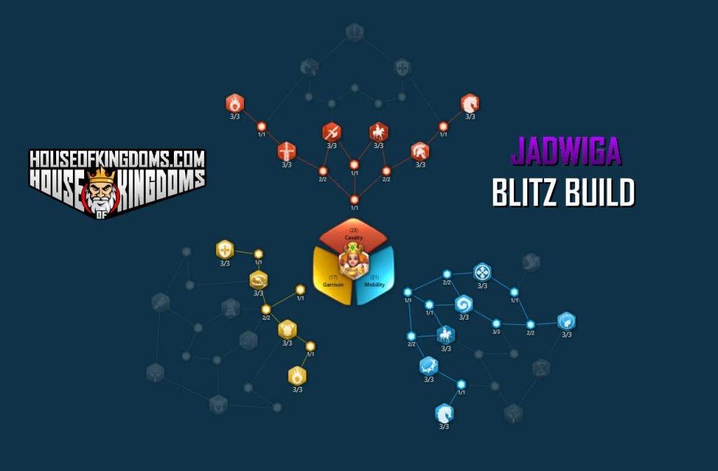 Best Jadwiga Blitz Build Talent Tree Rise of Kingdoms