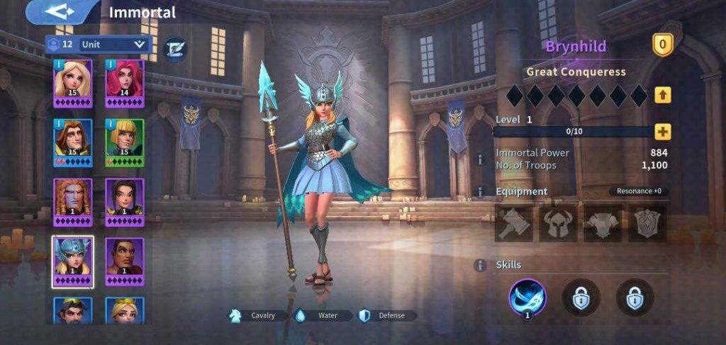 Brynhild Immortal Infinity Kingdom