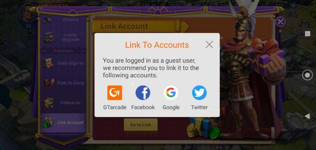 Infinity Kingdom Game Account Bind